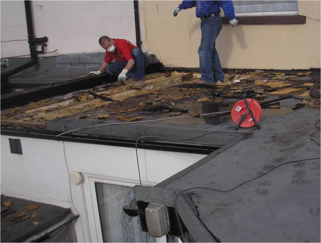 Flat Roof Hail Damage : Roofing by north wales builders
