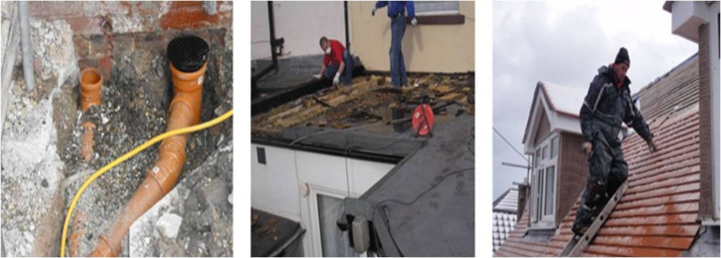 North Wales Urgent Building Repairs. It happens, Pipes burst, Roof's are blown apart, frost damage, storm damage, repairs and maintenance, part of our service