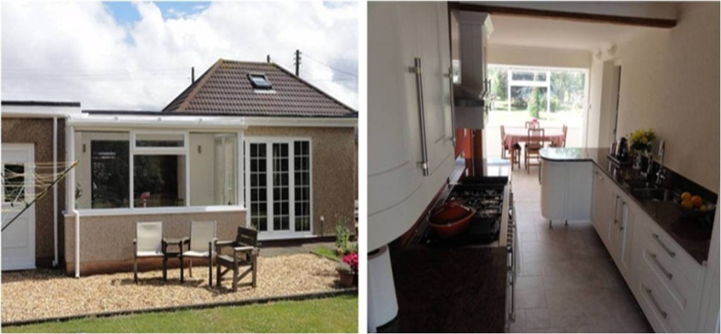Bungalow extension for North Wales Kitchen