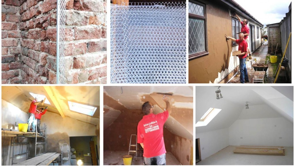 Property improvement with plastering and rendering