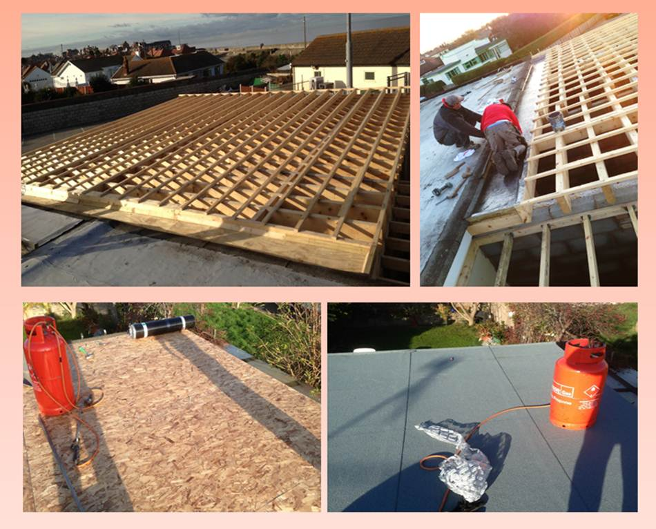 North Wales Golf Club flat roof with fast water lead valley