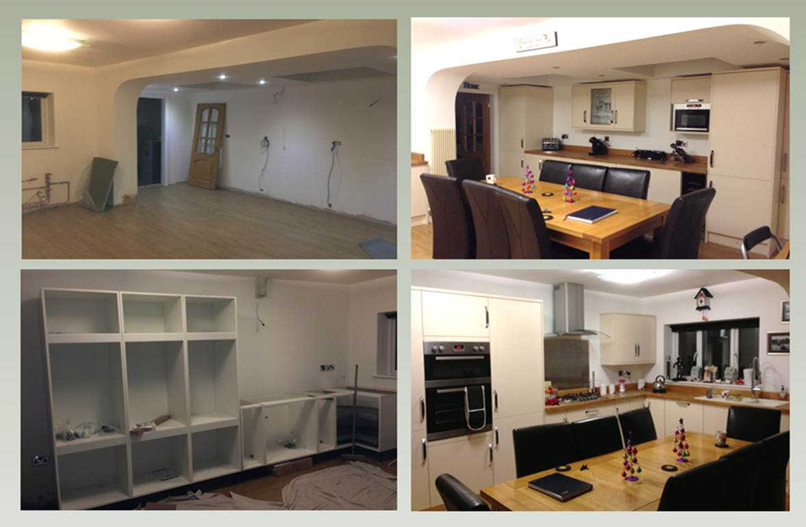 Refurbish extension to provide new kitchen diner including all services