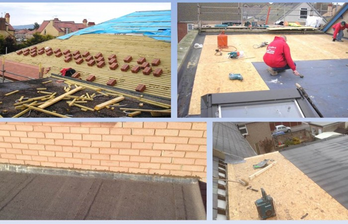 Examples of North Wales weatherproof roof joints by Kelvin Griffiths and Son