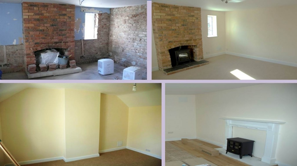 Building, plastering and other examples from this North Wales Building project