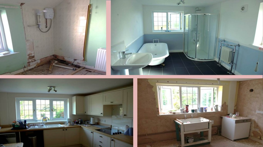 Kitchen and Bathroom work by Kelvin Griffiths and Son, North Wales Builders at Halkyn
