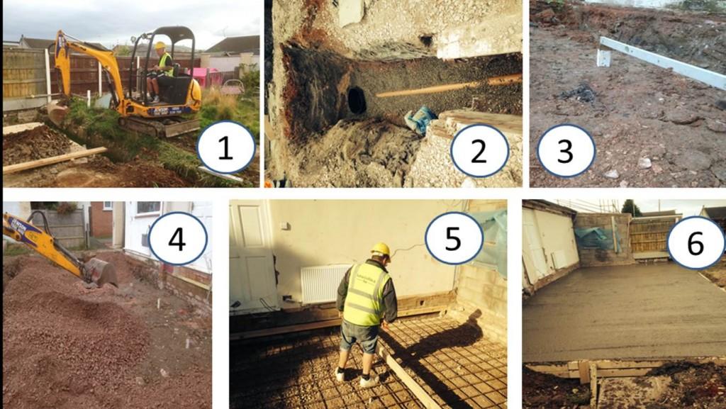 North Wales property development foundation building process