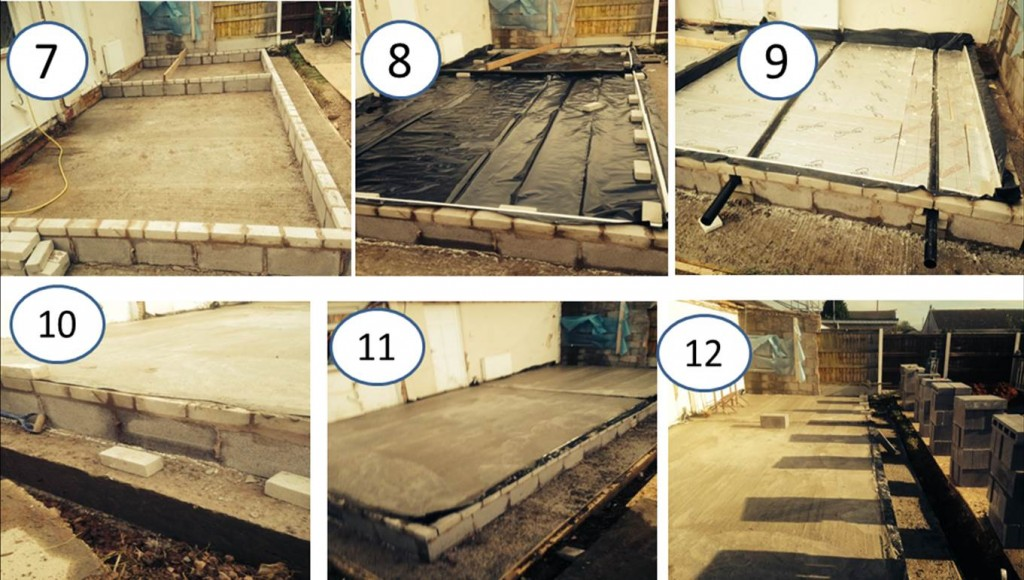 Kelvin Griffiths and Son your North Wales Builders process of constructing foundations