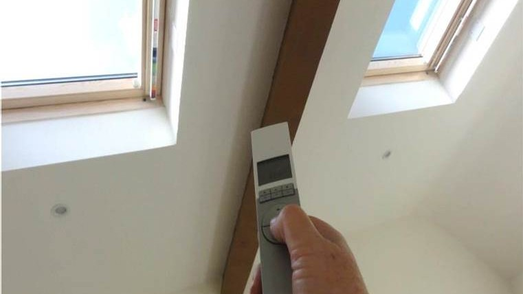 Velux windows north wales builders kelplast for Velux skylight remote control manual